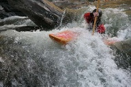 Kajak-Guide bei Rafting-Tour. (Quelle: Richard Conely)