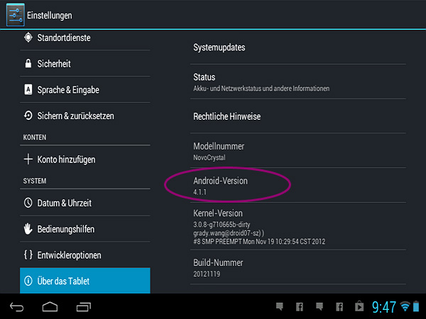 Android-Einstellungen (Quelle: Screenshot)