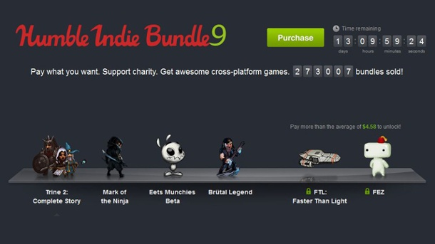 Humble Indie Bundle 9 um vier Spiele erweitert. Humble Indie Bundle 9 (Quelle: Humble Tip)