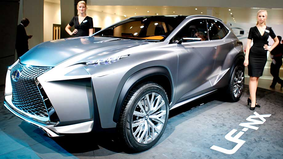top lexus lf nx wuchtige suv studie mit stil 3. Black Bedroom Furniture Sets. Home Design Ideas