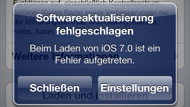 iOS 7: Release verlief sehr holprig, Download machte Probleme