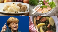 Kanzlerin Angela Merkel isst am liebsten Königsberger Klopse. (Quelle: Reuters/ dpa/ pictures lines/ Stockfood/ chromorange/ Thinkstock by Getty-Images)