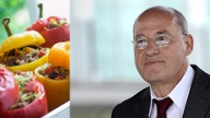 Gregor Gysi isst am liebsten gefüllte Paprika. (Quelle: Imago/ Future Images/ Thinkstock by Getty-Images)