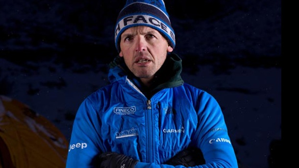 Interview mit Simone Moro - die Schlägerei am Everest. Simone Moro am Nanga Parbat 2012. (Quelle: Matteo Zanga/The North Face)