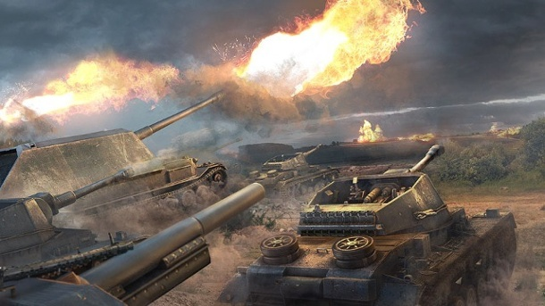 World of Tanks: Auf dem Schlachtfeld Fußball spielen. World of Tanks MMOG-Actionspiel von Wargaming.net für Xbox 360 (Quelle: Wargaming.net)