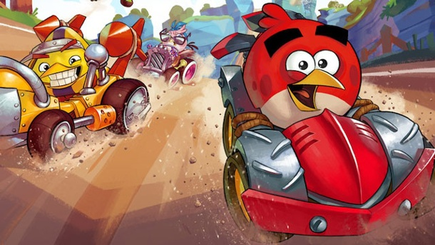 Angry Birds Go!: Konkurrenz für Mario Kart am Start. Angry Birds: Go! Arcade-Rennspiel von Rovio für  iOS, Android, Windows Phone 8 und Blackberry 10 (Quelle: Rovio)