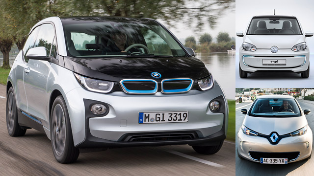 elektroautos bmw i3 renault zoe vw e up im vergleich. Black Bedroom Furniture Sets. Home Design Ideas
