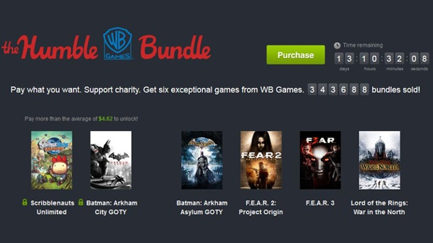 "Humble Bundle ""WB Games"" enthält Batman, F.E.A.R. und Co.. Das ""Humble WB-Games-Bundle"" (Quelle: Humble Bundle Inc.)"