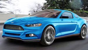 Retusche Ford Mustang 2014
