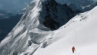 Himalaya: Simone Moro am Nanga Parbat. (Quelle: The North Face)