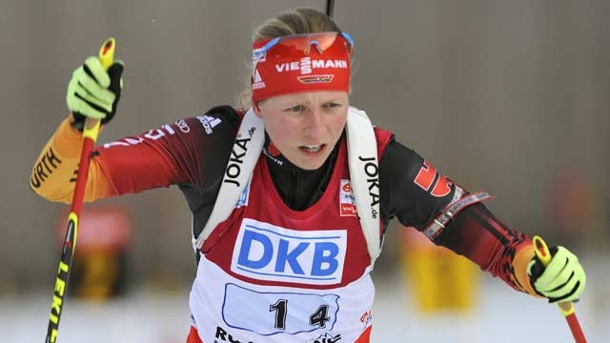 Biathlon: Damen-Staffel in Antholz abgebrochen . Franziska Hildebrand in Antholz. (Quelle: imago/Sven Simon)