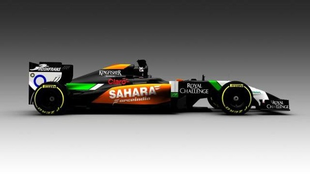 """Grimmiges, neues Aussehen"": Der Force-India-Bolide. Der neue Force-India-Bolide VJM07."