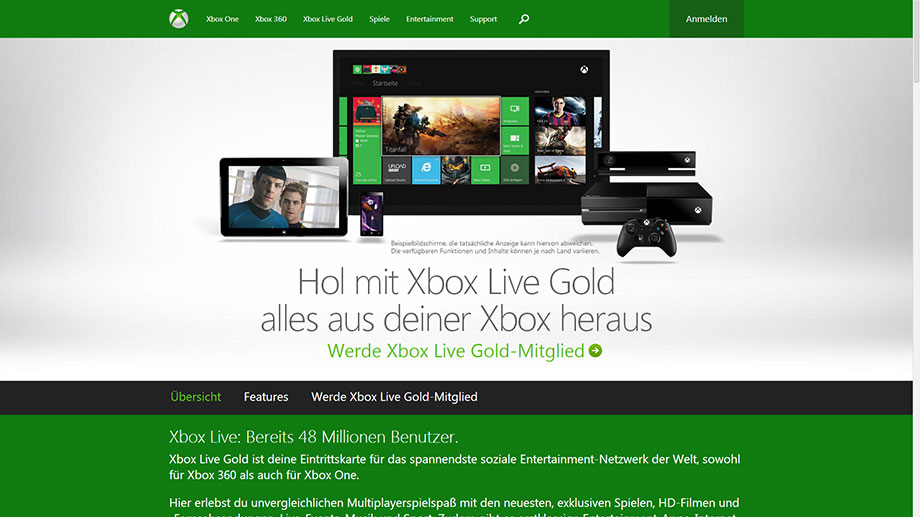 Playstation Plus versus Xbox Live Gold: Bezahldienste auf PS4 und Xbox One (Quelle: Microsoft)