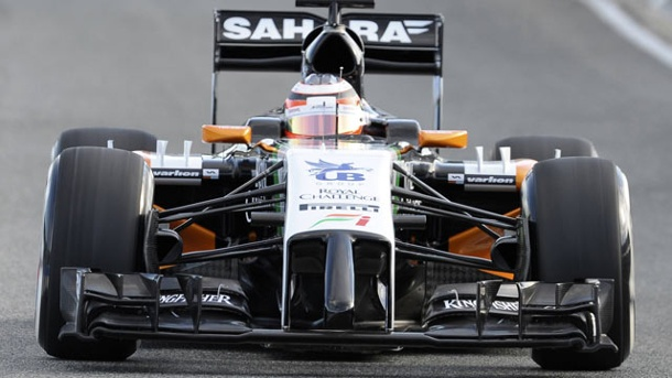 Sahara Force India F1 Team im Porträt. Der Force-India-Bolide von 2014. (Quelle: imago/Kolvenbach)