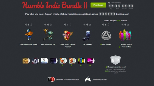 Independent Games: Das Humble Indie Bundle 11 ist an den Start gegangen. Humble Indie Bundle 11 (Quelle: Humble Inc.)