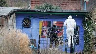 In this small garden in Essen, the police made the gruesome discovery