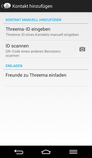 Threema (Quelle: Screenshot: Threema)