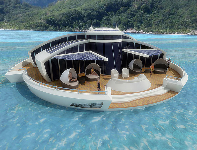 Solar Floating Islands: Mischung aus Jacht und Suite (Quelle: www.mpd-designs.com)