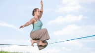Beliebte Funsportarten: Slacklining (Quelle: Thinkstock by Getty-Images)