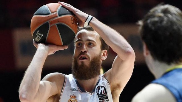 Real Madrid und Maccabi Tel Aviv im Euroleague-Finale. Sergio Rodriguez (l) war bei Real Madrid überragend.