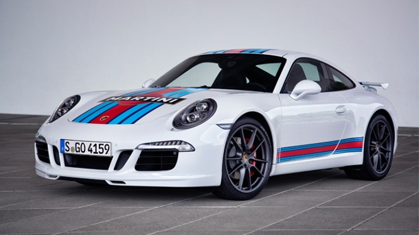 "Porsche 911 Carrera S ""Martini Racing Edition"". Porsche 911 Carrera S ""Martini Racing Edition"" (Quelle: Automedienportal/Porsche)"