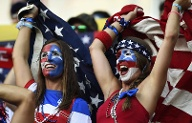 Sexy US-Fans (Quelle: Reuters)