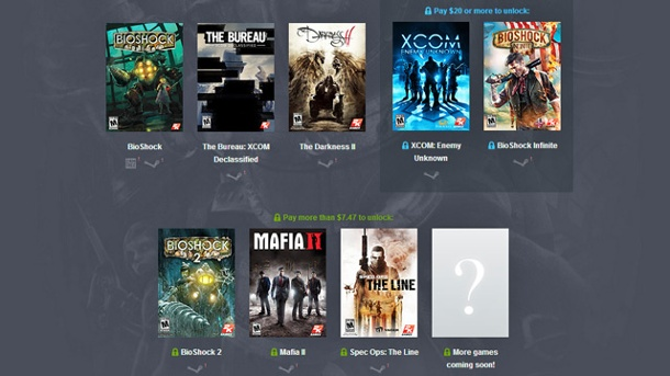 Humble Bundle von 2K Games bietet Bioshock und Co.. Humble 2K Games Bundle (Quelle: Humble Bundle Inc.)