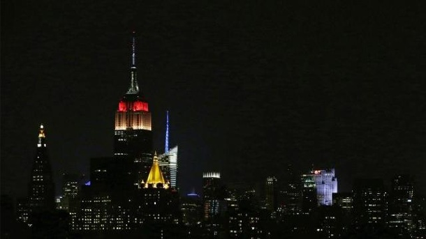WM 2014: Empire State Building strahlt in Deutschland-Farben. Das Empire State Building strahlte in schwarz-rot-gold.