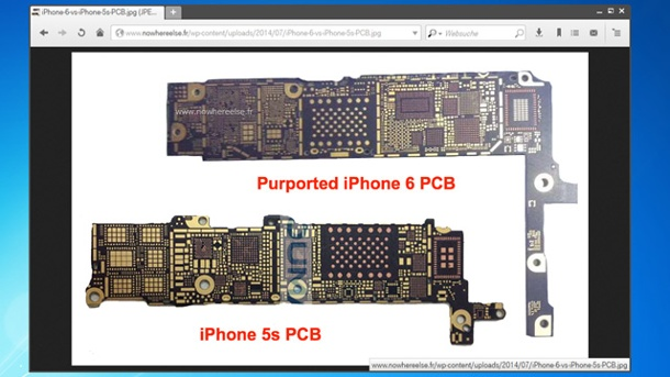 Apple verwandelt neues iPhone 6 in digitales Portemonnaie. Foto zeigt angebliche NFC-Chip des iPhone 6 (Quelle: Screenshot: nowhereelse.fr)
