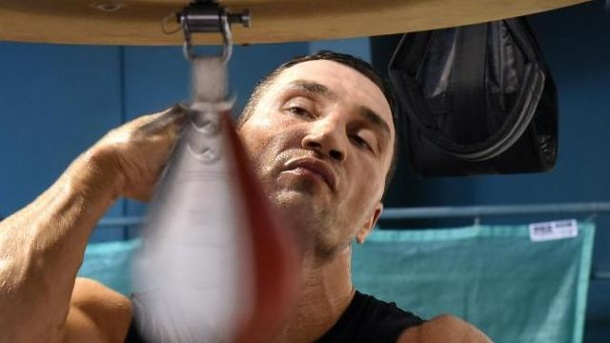 Wladimir Klitschko: Neue Motivation durch Vaterschaft. Wladimir Klitschko beim Training in Going.