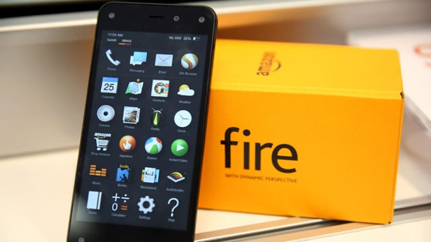"Amazon-Smartphone ""Fire Phone"" gibt es exklusiv bei Deutsche Telekom. Das Amazon Fire Phone kommt Ende September. (Quelle: dpa)"