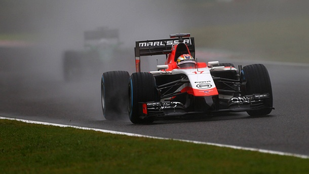 Jules Bianchi zu schnell? Marussia wehrt sich gegen Vorwürfe. Jules Bianchi kurz vor seinem Crash in Suzuka. (Quelle: imago/Crash Media Group)