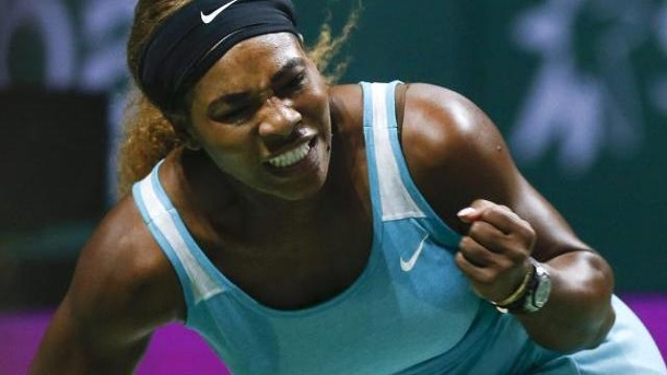 Tennis: Serena Williams rehabilitiert sich in Singapur. Serena Williams besiegte Eugenie Bouchard klar 6:1, 6:1.