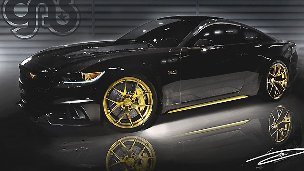 tuningshow sema 2014 neuer ford mustang wird ordentlich aufgepumpt. Black Bedroom Furniture Sets. Home Design Ideas