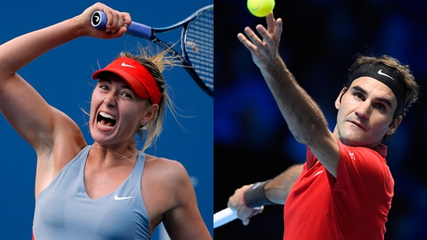 Federer und Co. starten in neue bizarre Tennis-Welt. Stars wie Maria Scharapowa (li.) und Roger Federer starten in der International Premier Tennis League. (Quelle: Reuters)
