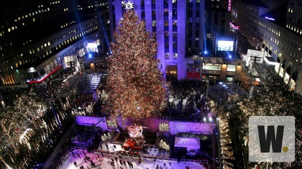 . Der Klassiker vor Weihnachten: Rockefeller-Center in New York (Quelle: dpa)