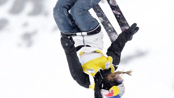 Ski-Freestyle: Slopestylerin Lisa Zimmermann holt Gold bei der WM. Lisa Zimmermann in Aktion (Quelle: dpa)