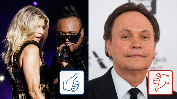 The Black Eyed Peas und Billy Crystal: Top & Flop des Tages. The Black Eyed Peas und Billy Crystal (Quelle: Cheryl Ravelo, Lucas Jackson (Reuters))