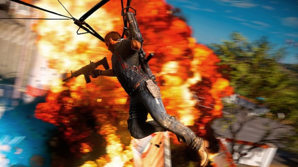Krawall im Küstenstaat. Just Cause 3 Open-World-Actionspiel von Avalanche Studios (Quelle: Square Enix)