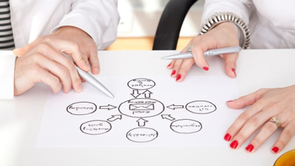 Gedanken ordnen mit Mind Mapping. Mind Mapping regt den Denkprozess an und visualisiert Assoziationsketten.  (Quelle: Thinkstock by Getty-Images)