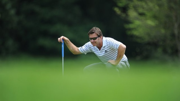 Golf - Faldo Course: Schottischer Platz vor den Toren Berlins. Golf-Legende Nick Faldo hat den Platz in Bad Saarow entworfen.