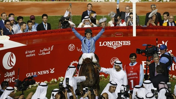 Pferdesport - Galopp: Prince Bishop gewinnt Dubai World Cup. Jockey William Buick gewann auf Prince Bishop den 20.