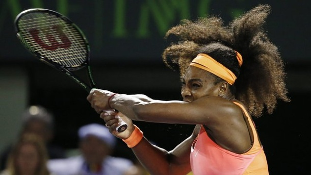 Serena Williams erneut im WTA-Finale in Miami. Serena Williams powert sich ins Finale.
