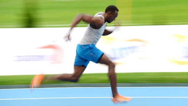 Leichtathletik: Usain Bolt startet bei Golden Spike in Ostrau. Usain Bolt sprintet in Ostrau.