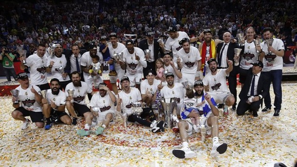 Basketball: Real Madrid feiert neunten Titel in der Euroleague. Real Madrid hat die Euroleague gewonnen.