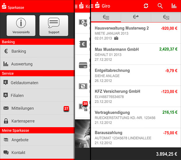 die banking apps sparkasse 0 00 euro nur f r sparkasse und sparkasse 0 99 euro auch. Black Bedroom Furniture Sets. Home Design Ideas