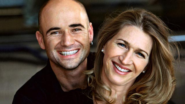 Steffi Graf with cool, talented, nice, Husband Andre Agassi