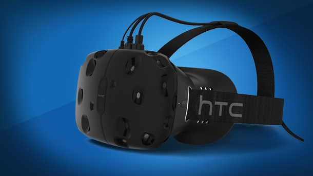 VR-Brille HTC Vive kostet 800 US-Dollar. HTC Vive VR Virtual Reality-Brille von HTC und Valve (Quelle: HTC / Valve)