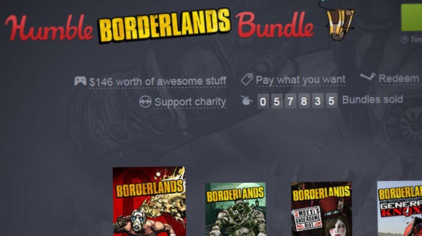 "Humble Bundle Borderlands Bundle ist da. Schnäppchenjagd-Aktion für PC-Gamer: Das ""Humble Borderlands Bundle"" (Quelle: Humble Inc.)"