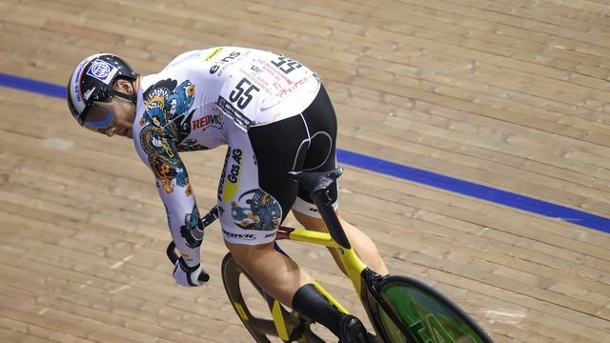 Radsport: Levy und Vogel setzen Glanzpunkte in Cottbus. Maximilian Levy in Aktion.